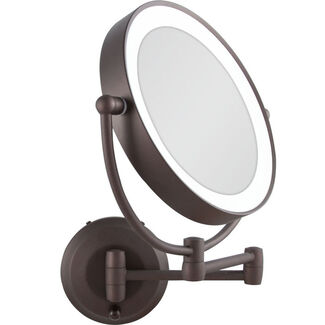 Zadro LED Lighted Cordless Round Double-Sided Wall-Mount Makeup Mirror